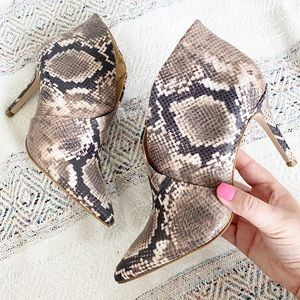 New Jessica Simpson Snake Ankle Booties